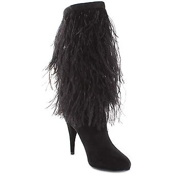 Michael Michael Kors Womens Asha Suede Fringe Booties Black 7 Medium (B,M)