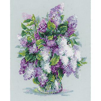 Gentle Lilac Counted Cross Stitch Kit-9.5
