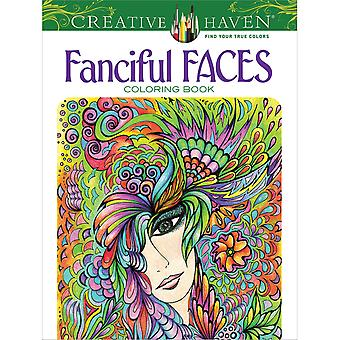 Dover Publications-Creative Haven Fanciful Faces DOV-79351