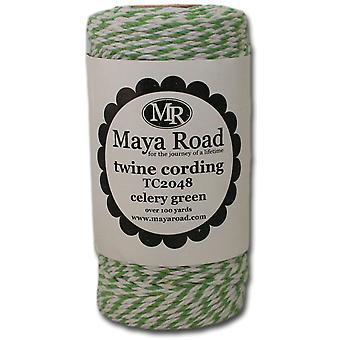 Twine Cording 100 Yards Roll Celery Green Tc2 48