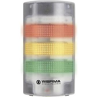 Signal tower LED Werma Signaltechnik 691.200.68 White Non-stop light signal, Flasher 230 Vac 85 dB