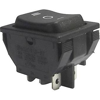 Toggle switch 250 Vac 10 A 2 x On/Off/On SCI R13-87D-02 latch/0/latch 1 pc(s)