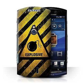STUFF4 Case/Cover for Sony Xperia Neo/MT15i/Explosive/Hazard Warning Signs