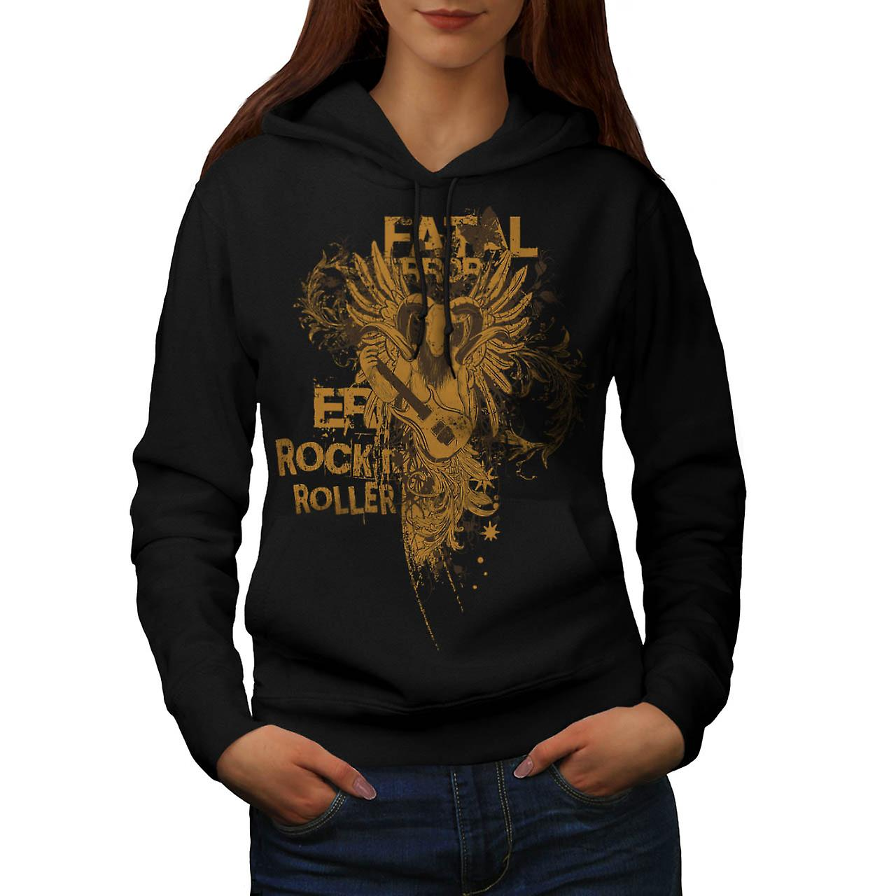 Goat Fatal Error Beat Music Ram Women Black Hoodie | Wellcoda