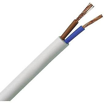 Flexible cable H03VV-F 2 x 0.75 mm² White Kopp 151510843 10 m