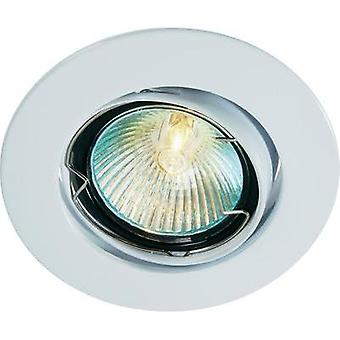 Flush mount light HV halogen G5.3 35 W Basetech CT-3107 MR16, white White