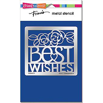 Stampendous Metal Stencil-Best Wishes Ensemble FMS-4071
