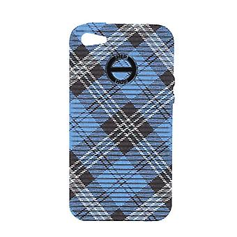 Hip-hop de la couverture cellulaire cas iPhone 5 blue HCV0080 Plaid dundee