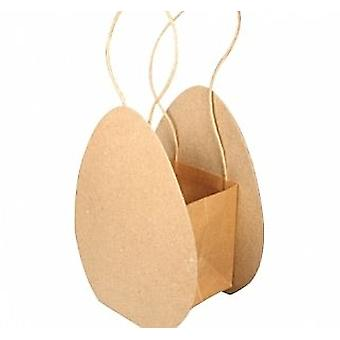 Paper Mache Collapsible Egg Shaped Bag to Decorate | Papier Mache Shapes