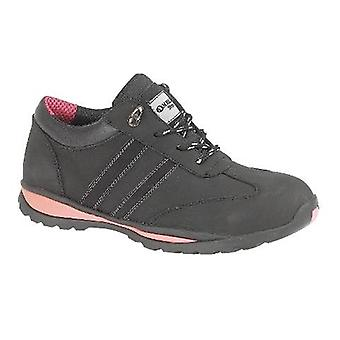 Gibt Stahl FS47 Womens Trainer Textil Leder Rubber Lace Damen Safety