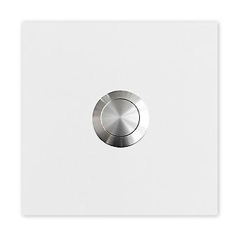White (RAL 9003 matt) MOCAVI RING 110 stainless steel design ring ring plate square, push button stainless steel
