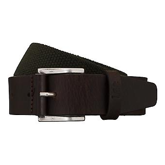 Lee belts men's belts textile woven belt green/brown 5425