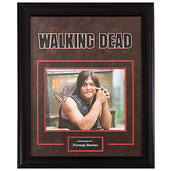 The Walking Dead Signed Photograph by Norman Reedus Poster in Framed Case