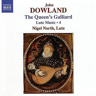 J. Dowland - Dowland: Dronningens Galliard - lut musik, Vol.  4 [CD] USA importerer