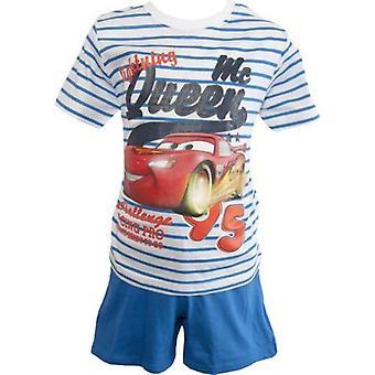 ディズニー車男の子ショー ティー パジャマ ストライプ