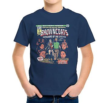 Browncoats Big Damn Heroes Firefly Serenity Comic Book Kid's T-Shirt