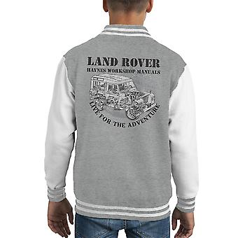 Haynes ägare Workshop Manual Land Rover äventyr svart Kid's Varsity Jacket