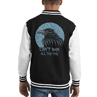 The Crow Cant Rain All The Time Kid's Varsity Jacket