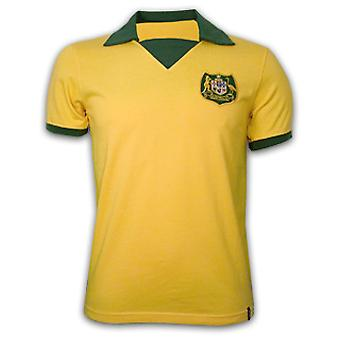 Australia WC 1974 Short Sleeve Retro Shirt 100% cotton