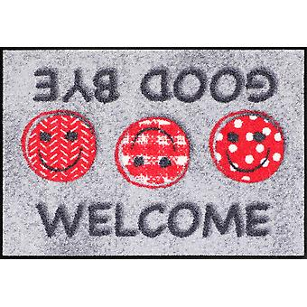 Salon lion door mat welcome good bye 50 x 75 cm washable floor mat