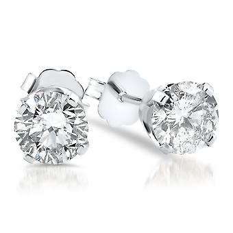 5 / 8ct Diamond Studs 14K hvitt gull skyver