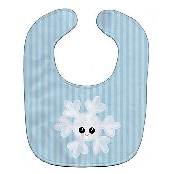 キャロラインズ宝物 BB7149BIB 天気スノーフレーク顔赤ちゃんよだれかけ