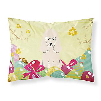 Easter Eggs Poodle White Fabric Standard Pillowcase