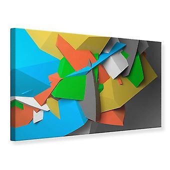 Canvas Print 3D Geometric Figures