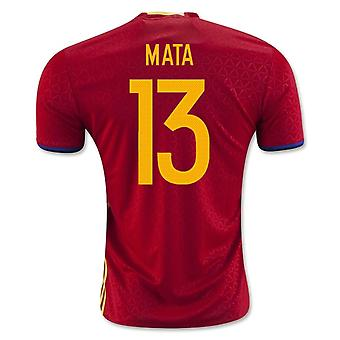 2016-2017 Spain Home Shirt (Mata 13)