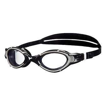 Arena Nimesis Crystal Medium Swim Goggle- Clear Lens - Black/Silver