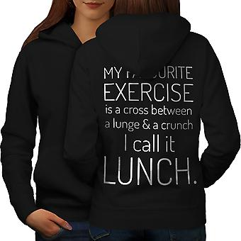 Favourite Exercise Women BlackHoodie Back | Wellcoda