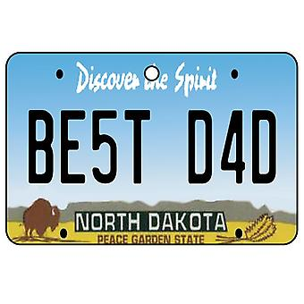 North Dakota - Best Dad License Plate Car Air Freshener