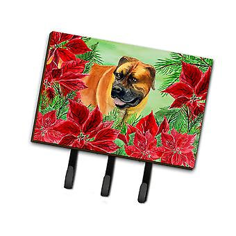 Carolines Treasures  CK1295TH68 Boerboel Mastiff Poinsettas Leash or Key Holder