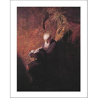Philosopher Reading Poster Print by Rembrandt van Rijn (22 x 28)