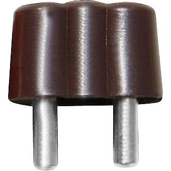 Mini jack plug Plug, straight Pin diameter: 2.6 mm Brown BELI-BE