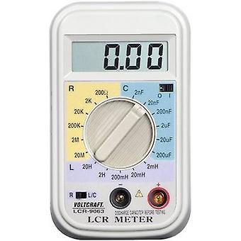 VOLTCRAFT LCR-9063 Component tester Digital Calibrated to: Manufacturer's standards (no certificate) CAT I Display (cou