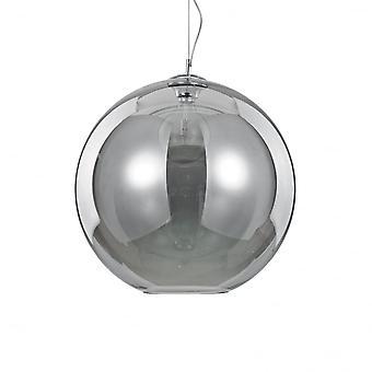 Ideel Lux Nemo røget glas Globe kugle vedhæng Drop (D 50cm) med Chrome Drop