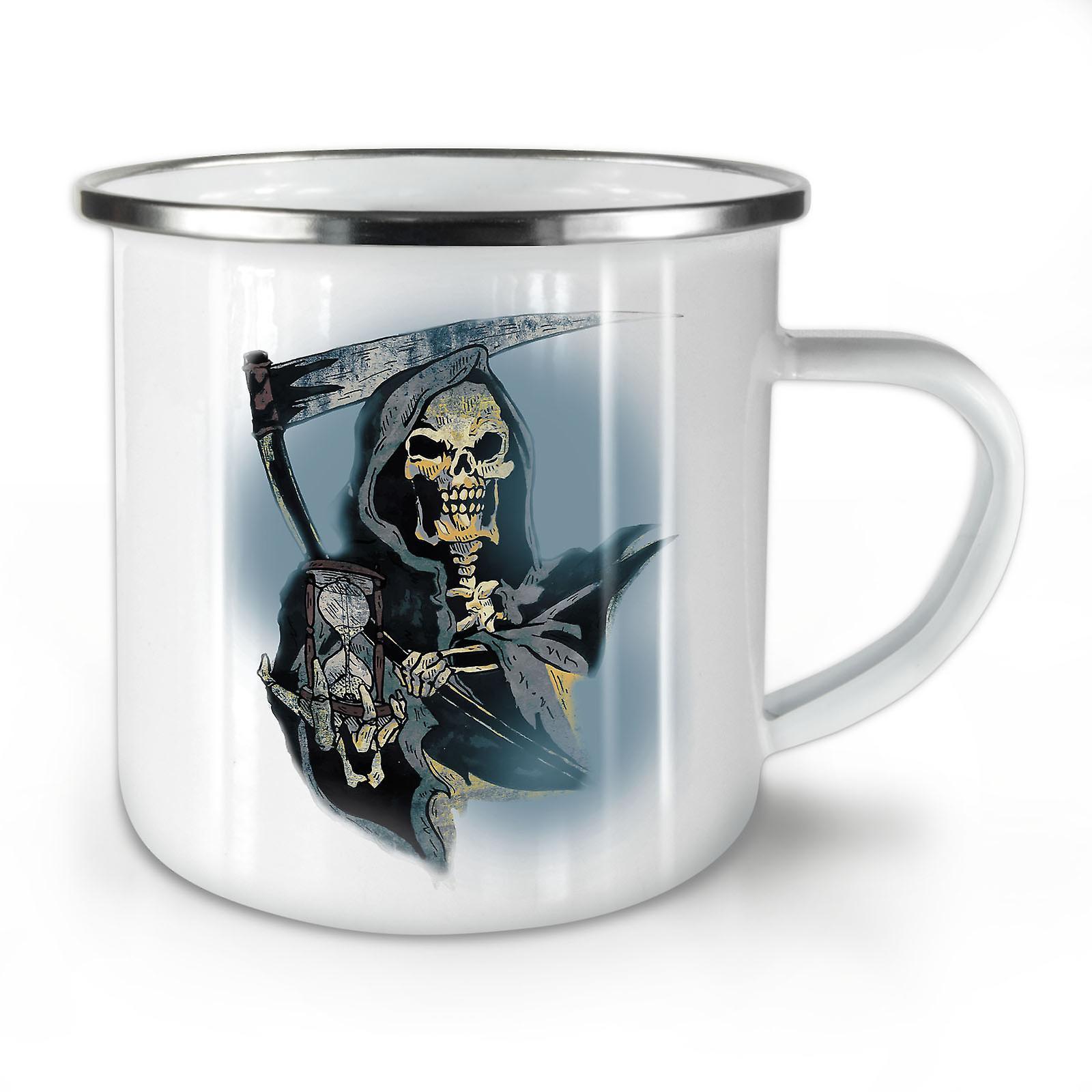 Skull Mort Nouveau Whitetea Émail Café Mug10 Temps Reaper OzWellcoda c3lFTK1uJ5