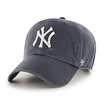 47 Brand MLB NY Yankees Clean Up Cap - Vintage Navy