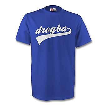 Didier Drogba Chelsea firma Tee (blu)