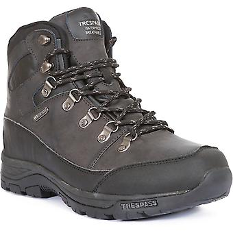 Trespass Mens Thorburn Mid Cut Leather Waterproof Walking Hiking Boots