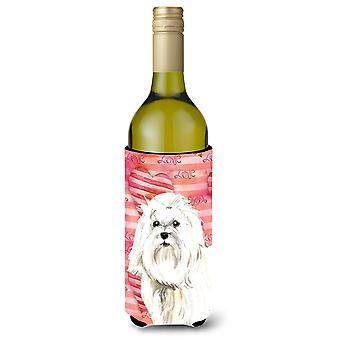 Amor una botella de vino Maltés Beverge aislador Hugger