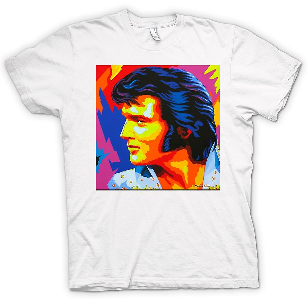 Mens T-shirt - Elvis Presley Farb - Pop-Art