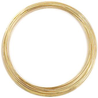 Gold Plated Memory Wire Necklace .5 Oz Pkg Approx 18 Loops 347A 150