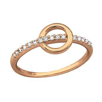 Geometric - 925 Sterling Silver Jewelled Rings