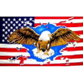 USA amerikanske 'Ørnen' Flag 5 ft x 3 ft med snøreringe
