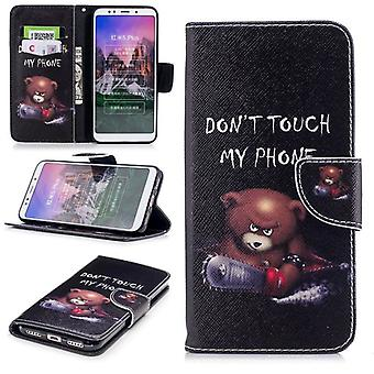 For Huawei P20 per leatherette bag book motif 30 protection sleeve case cover pouch new