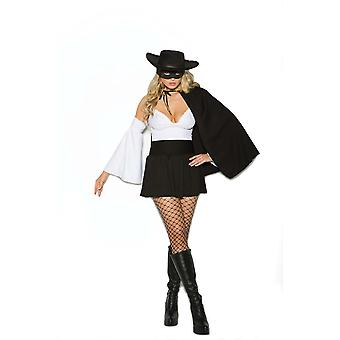 Elegant Moments Womens Daring Bandit Zorro Halloween Roleplay Costume