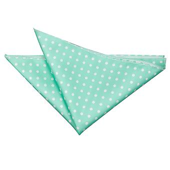 Mint Green Polka Dot  Pocket Square