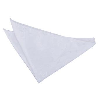 Valkoinen kukka tasku neliö